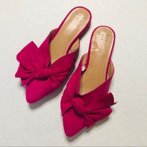 A New Day Pink Bow Mules